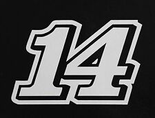 (2) # 14 Tony Stewart Racing Vinyl Die Cut Decal Nascar Sticker 5""
