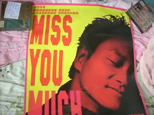 a941981 Leslie Cheung HK Promo Poster Miss You Much Leslie Big Poster 張國榮