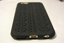 Black Tyre Track Design Slim Rubber/Silicone Case Cover Skin for iPhone 6 6s