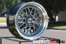 17x8.5 Inch +30 ESR SR01 5x120 Hyper Black Gunmetal Gray Wheels Rims e30 e36 e46