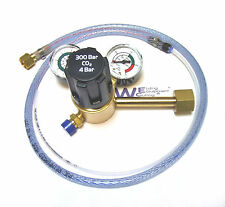 Single Stage 2 Gauge Co2 Mig Welding Regulator With Adaptor For Pub Gas Bottles