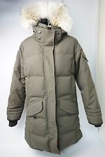 Outdoor Survival Canada Nisto Down Parka Coyote Fur Trim Size Medium Alpine Moss