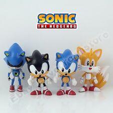 New ! 4Pcs Sonic The Hedgehog Tails 7cm-8cm PVC Figure Set Loose
