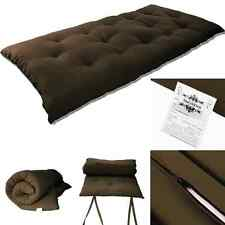 "Full Size Japanese Tatami Rolling Bed Thai Massage Floor Mat 3""Tx54""Wx80""L Brown"