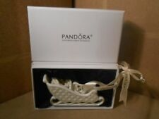 Pandora Exclusive (P01047)- Sleigh Christmas Ornament 2014 Limited Holiday Gift