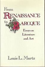 From Renaissance to Baroque: Essays on Literature and Art