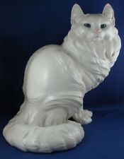 Rare Nymphenburg Porcelain Giant Cat Figurine Figure Porzellan Katze Figur