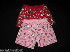 BUILD A BEAR Clothes - 2 pair of shorts in EUC Hello Kitty & Winter Penguins