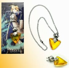 FATE STAY NIGHT COLLANA NECKLACE MANGA EMIYA SHIRO SABER COSPLAY PIETRA STONE #3