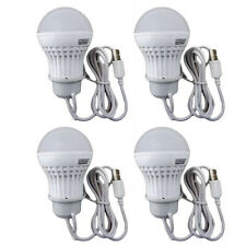 4x 3W USB Power Natural White LED Night Light Bulb Portable Lamp Reading 753421
