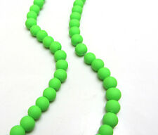 New Loose Charm 50pcs 6MM Matte Rubber Neon Round Glass Spacer Beads Pick!