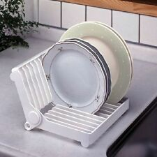 Foldable Dish Plate Plastic Drying Rack Organizer Drainer Storage Holder Kitchen