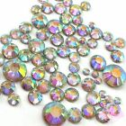400 pcs 2mm - 6mm Resin Crystal AB round Rhinestones Flatback Mix SIZE