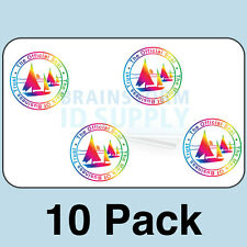 Mark of Business Trust ID Card Hologram Overlays (w/UV) for Teslin/PVC - 10 pack