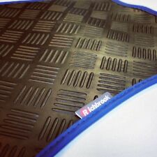 Richbrook 3mm Car Mats with Blue Leather Trim for BMW Mini Convertible (2015 )