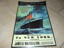 PLAQUE METAL WHITE STAR LINE TITANIC 40*30
