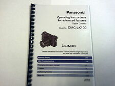 PANASONIC LUMIX DMC-LX100 PRINTED INSTRUCTION MANUAL USER GUIDE 332 PAGES