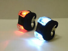 2xblack Lights LED Frog Bike  Bicycles Lights Front Rear Lights Set Cycle light