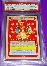 Pokemon 1995 Charizard Topsun Green Back PSA 10