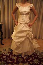 Vestito abito da sposa nuovo atelier italiano taglia 44 avorio seta Milly