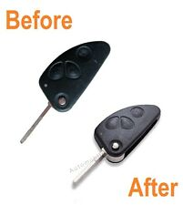 Refurbishment service for Alfa Romeo 147 156 166 GT 3 button flip remote key fix