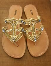 Anchor Jeweled Beaded Mo Mo Sandals Women's Size 11.