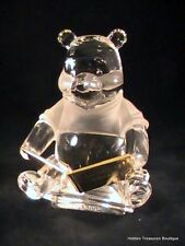 Lenox Disney Lead Crystal Once Upon A Time Pooh w/Gold Book Figurine NIB COA