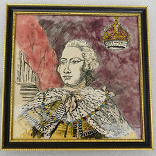 King George III ceramic tile 1976 American Declaration of Independence 1776 6""