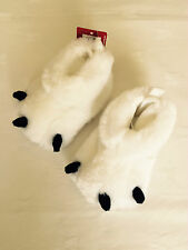 NEW FAUX FUR  POLAR BEAR CLAW SLIPPERS MARKS & SPENCER -Size 6 to 12 months