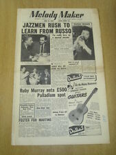 MELODY MAKER 1955 JUNE 18 BILL RUSSO RUBY MURRAY LONDON PALLADIUM BBC SHOW BAND