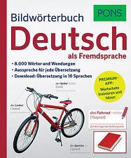 NEU Deutsch lernen als Fremdsprache PONS Bildwörterbuch visuelles Wörterbuch DaF