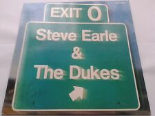Steve Earle & the Dukes Exit O signed / Autographed vinyl LP