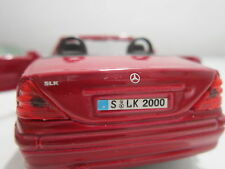 MERCEDES BENZ SLK TOY Cabriolet RED MAISTO 1:35 Diecast Car Model