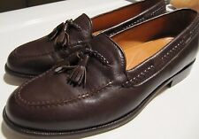 Harold's Hand Crafted Brown Leather Slip On Tassle Loafers Mens 10 Made in