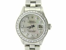 Ladies Rolex Stainless Steel Datejust Date Watch w/White MOP Diamond & Bezel