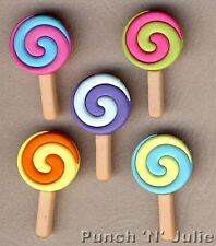 TWISTED POPS - Candy Sweet Shop Lollipop Lolly Food Dress It Up Craft Buttons