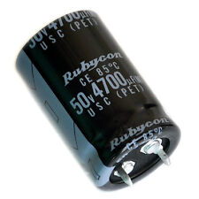 10x Japan RUBYCON 4700uF / 50V Electrolytic Capacitors.