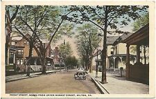 Front Street North From Upper Market Street in Milton PA Postcard 1917