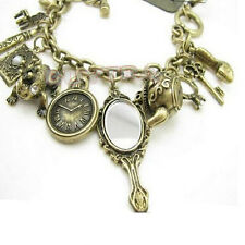 Sale Teapot Frog Clock Wonderland Bracelet Stylish Bronze Charms Mirror ChicCNUS