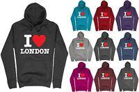 Womens I Love London Printed Hoodie casual pullover Sweatshirt Hoody Top Jumper