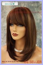 MADISON MONOFILAMENT WIG BY ENVY *MEDIUM BROWN* SEXY SOPHISTICATED STYLE
