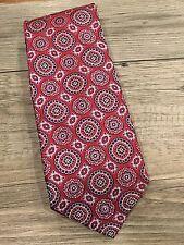 Burma Bibas Red And Blue Geometric Necktie 100% Silk Tie-NWT! $39.99