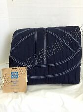 Pottery Barn Teen PBT Peace Out Quilt Blanket Cover quilted full queen f/q navy