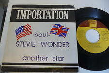 STEVIE WONDER 45T ANOTHER STAR / CREEPIN. RARE FRENCH LIDO MUSIQUE SLEEVE.