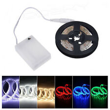 3528 SMD 50CM 4.5V Battery Powered Flexible LED Strip Light Connector Warm White