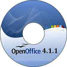 Open Office 4.1.1 Suite Software DVD (for all your office needs)