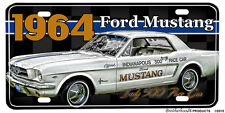 1964 Ford Mustang Indy 500 Pace Car Aluminum License Plate