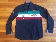Rare VTG Paul & Shark Yachting Yacht Club Guardia Button Embroidered Shirt LG 42