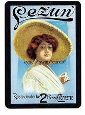 S17 SINGLE swap playing cards MINT cigarettes smoking BEST DEUTSCH lady hat