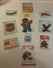 Iron On Applique Lot of 9 Patches All NIP Ernie Winnie the Pooh Eagles